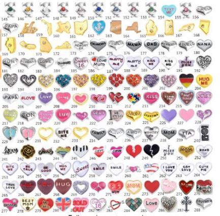 Where To Buy Origami Owl - 10ct floating charms for origami owl style necklaces 9