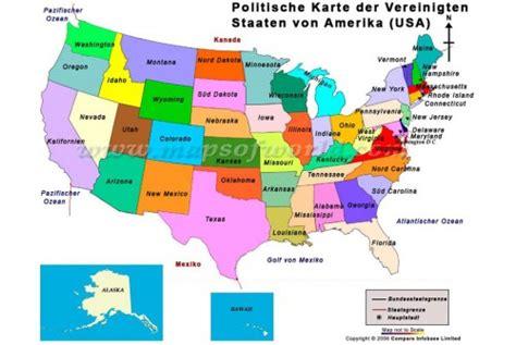 political map of usa buy politische landkarte der usa political map of the