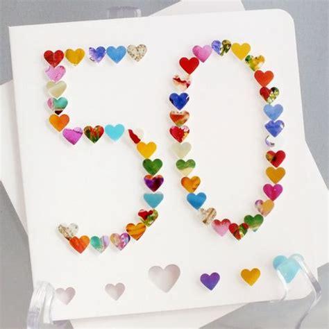 handmade 3d 50 card 50th birthday card 50th by