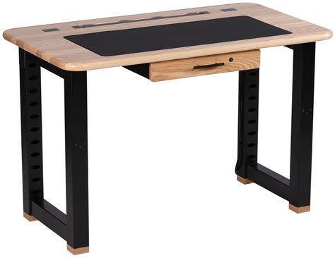 schreibtisch esche hell loft computer desk ash caretta workspace