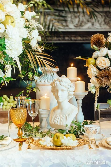 ethereal   ancient greece wedding ideas deco