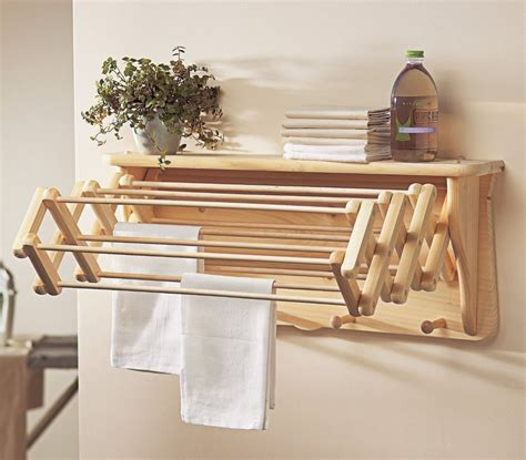 Wooden Drying Racks For Laundry by Wooden Laundry Rack Drying Shelf Wardrobe Wall Folding