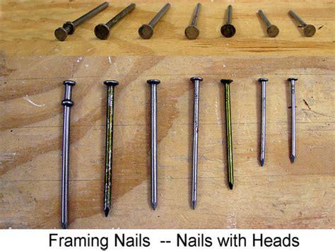 framing nail nail guide for diy ers framing nails 171 remodeling for geeks