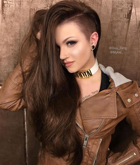 long hair at the front shaved at the back color by guy tang hairstyles pinterest guy tang guy