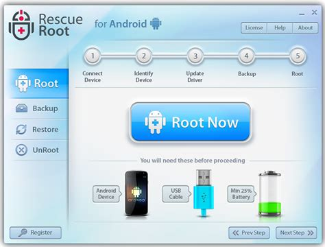 root for android easily root android devices with no cost one click rescue root software
