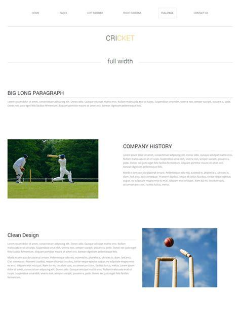 templates for cricket website cricket web template cricket website templates