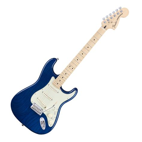 light blue fender electric guitar fender deluxe stratocaster electric guitar mn sapphire