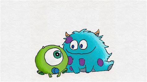 imagenes de monster inc kawaii widdle mike and sully by tortallmagic on deviantart