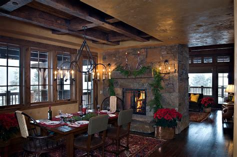 Decorating Dining Room With Fireplace 21 Dining Room Decorating Ideas With Festive Flair