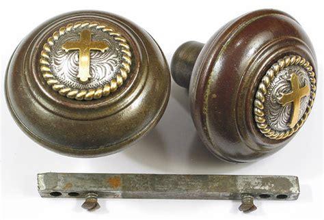 Vintage Metal Door Knobs by Pr Vintage Metal Door Knobs Cross Button Top By Droxdesigns