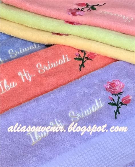 Souvenir Handuk Cantik souvenir handuk terry palmer 50x100 dgn bordir cantik