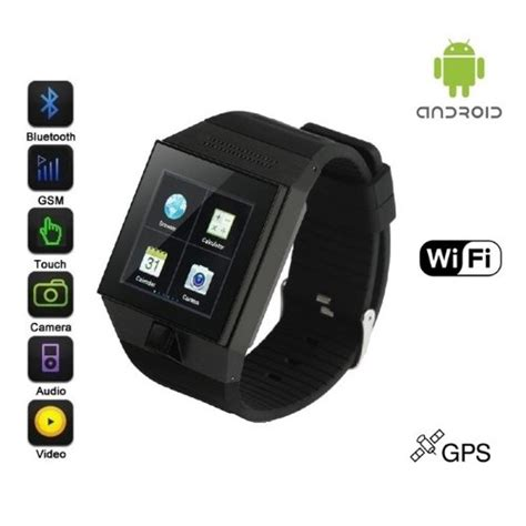Android Ultra SmartWatch in Black   SmartWatches.org