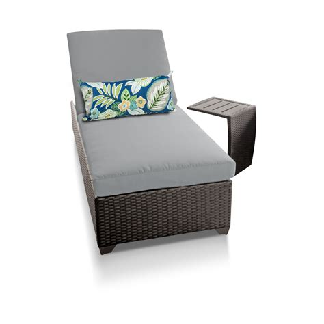 wicker outdoor chaise classic chaise outdoor wicker patio furniture with side table