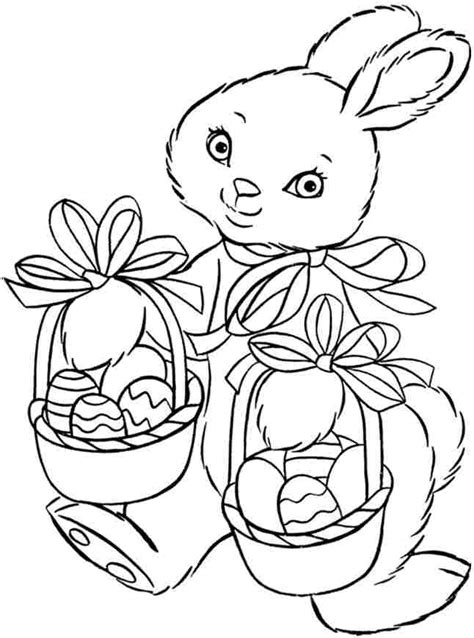 coloring sheets easter bunny printable free for kids