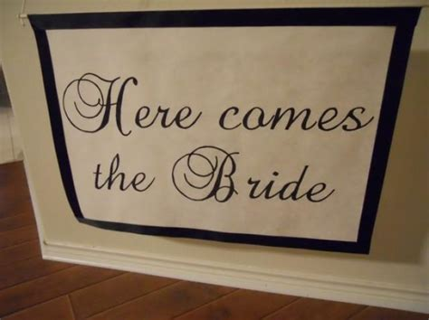 Wedding Banner Here Comes The by Custom Wedding Banner Here Comes The 2286971