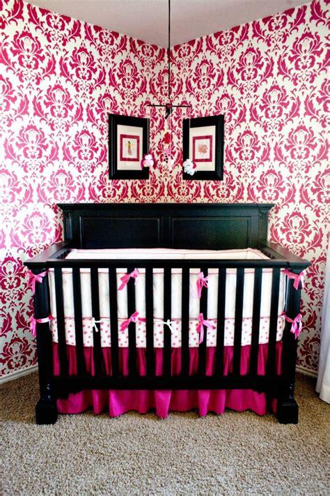 black and pink nursery beautiful pink decoration