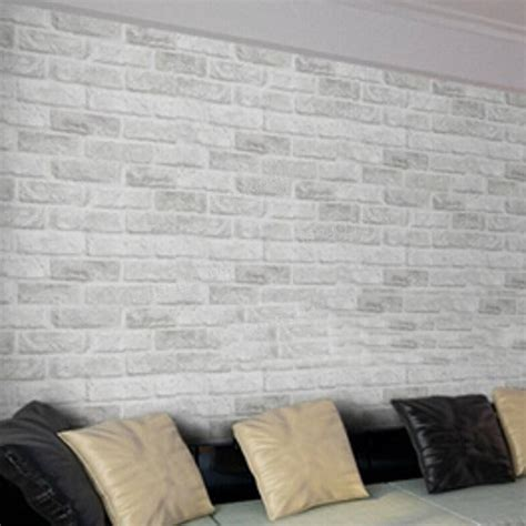 white brick self adhesive wallpaper by the binary box 10m white grey brick stone prepasted adhesive contact