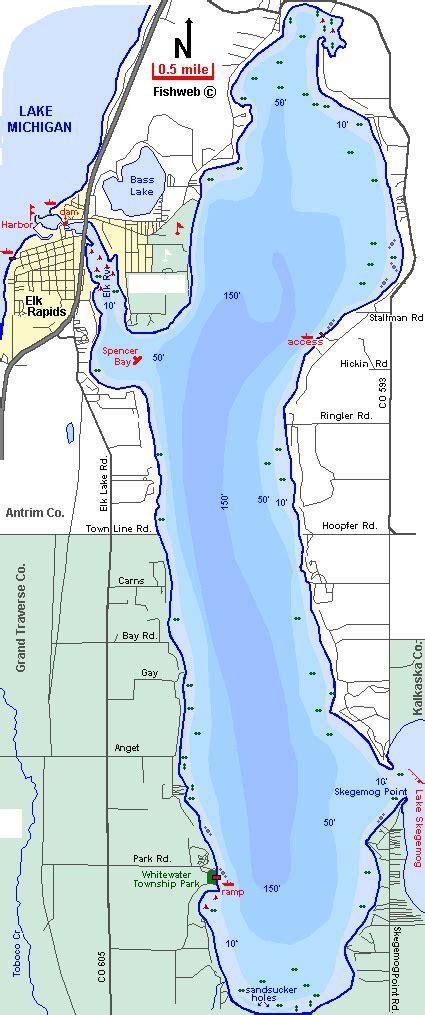 boat launch elk lake mi elk lake map antrim county michigan fishing michigan