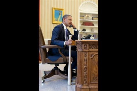 Speaks From The Big House picture of the day obama literally speaks softly carries