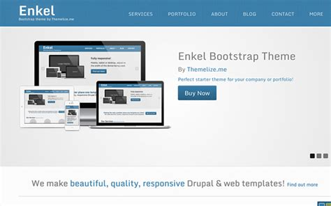 buy bootstrap template enkel responsive bootstrap theme business corporate