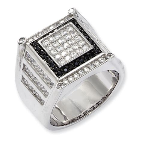 sterling silver cubic zirconia s ring
