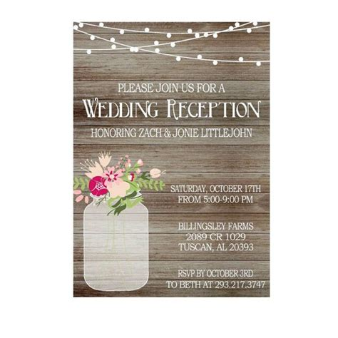 Reception Wedding Invitations by 48 Best Wedding Reception Invitations Images On