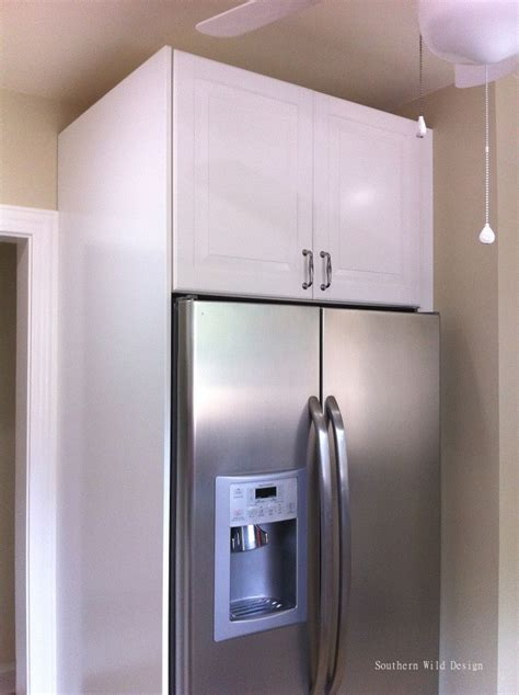 how to cover refrigerator with cabinet ikea s over the fridge cabinet southern wild