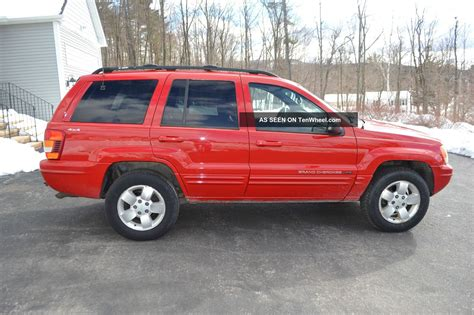 red jeep cherokee 2001 jeep grand cherokee limited red
