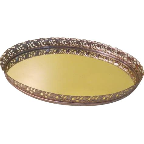 Mirrored Vanity Tray by Oval Mirrored Vanity Tray B189 From Hodgepodgelodge On