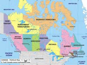 map of canada atlas political canada map
