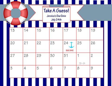 printable calendar 2016 baby printable guess baby date calendar template 2016
