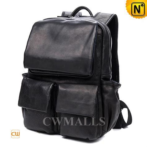 black leather laptop backpack cwmalls 174 black leather laptop backpack cw916003