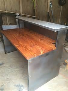 Rustic Reception Desk Buy Made Rustic Industrial Reception Desks Made To Order From Live Edge Rustic