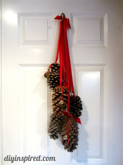 diy decorations with pine cones hanging pine cone decoration diy inspired