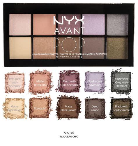 Nyx Avant Pop 1 nyx avant pop eye shadow palette quot apsp 03 nouveau