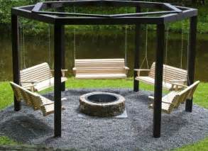 Fire Pit Swing by Campfire