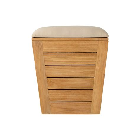 teak laundry her stool large bathroom