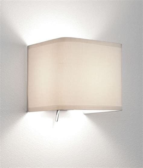 Fabric L Shades For Wall Lights by Chrome Wall Light With Fabric Shade