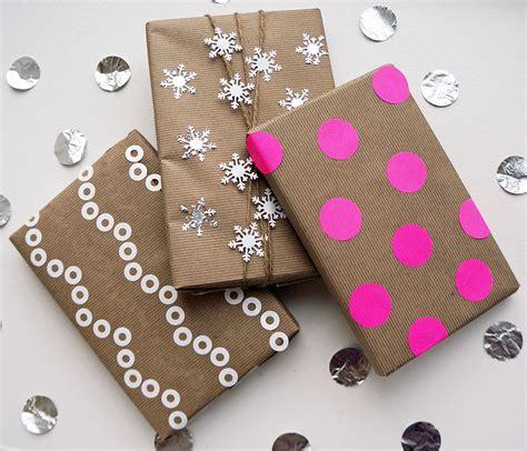 wrapping gift kraft paper gift wrap ideas popsugar smart living