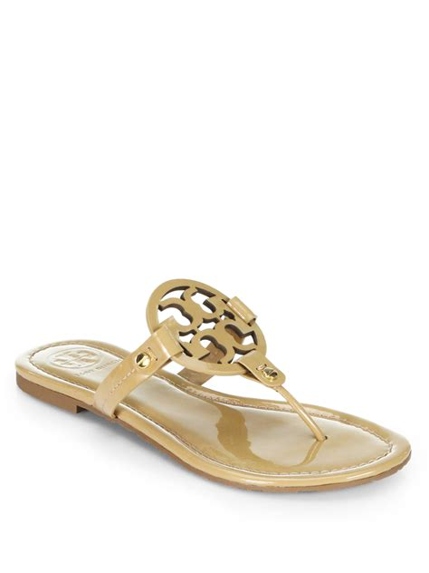 sand sandals burch miller patent leather sandals in khaki