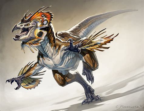 frilled raptor by fleurdelyse on deviantart