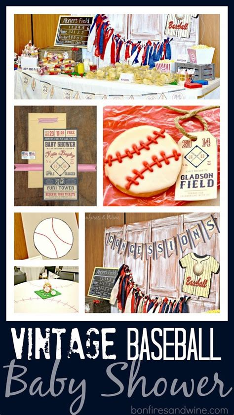 Vintage Baseball Baby Shower Decorations by Bonfires And Wine Vintage Baseball Baby Shower