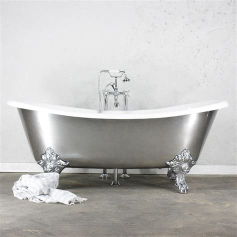 chrome bathtub the bolton 73 quot cast iron french bateau clawfoot bathtub