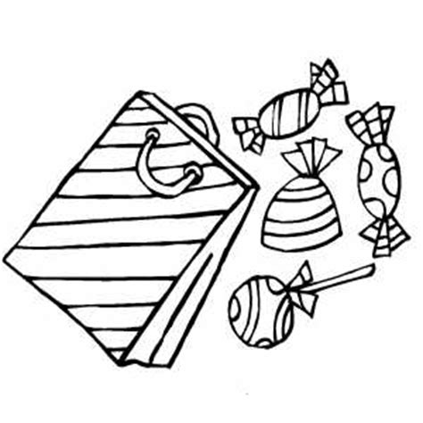 gift bag coloring page gift bag with candies coloring page