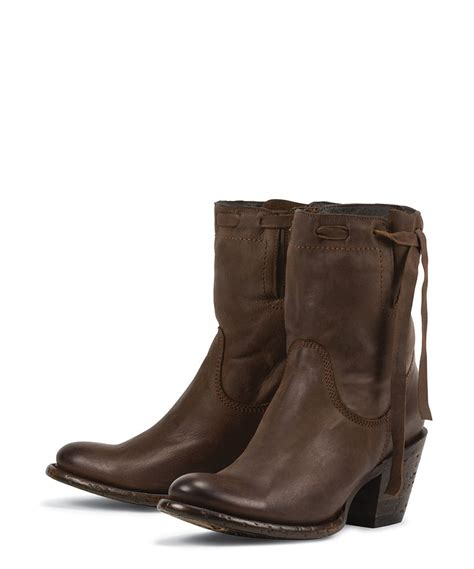 new brown all leather womens fashion ankle boots