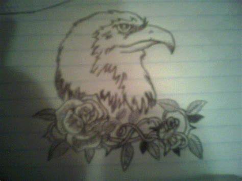 eagle tattoo with roses eagle and roses tattoo picture