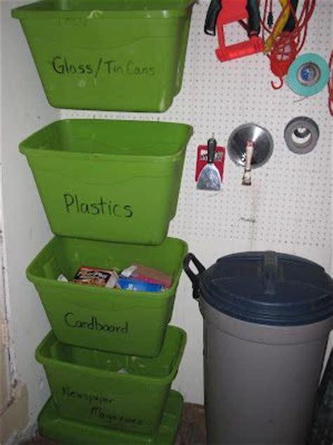 Garage Waste Collection by Best 25 Recycling Bins Ideas On