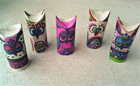 Toilet Paper Owl Craft - toilet paper on toilet paper rolls toilet