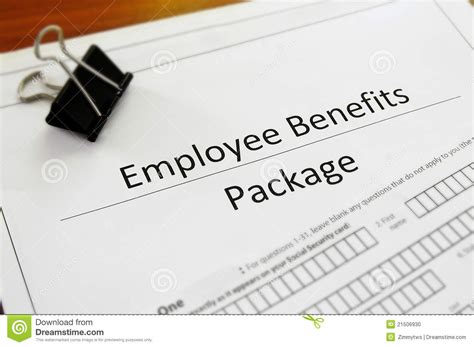benefits package stock photo image of resources package 21506930