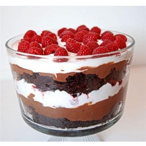 chocolate raspberry recipes chocolate raspberry trifle recipe just desserts pinterest